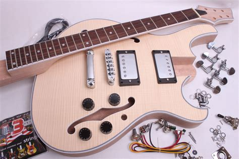 Diy Semi-hollow Body Double Cutaway Electric Guitar Kit Checklist